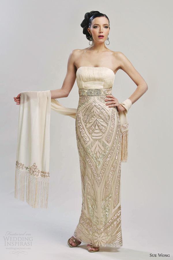 sue wong bridal 2013 strapless wedding dress style w3231