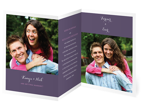 Wedding Invitations By Dawn Bridal Couple Photo Invite Card Folding Style  Dw26997nfc