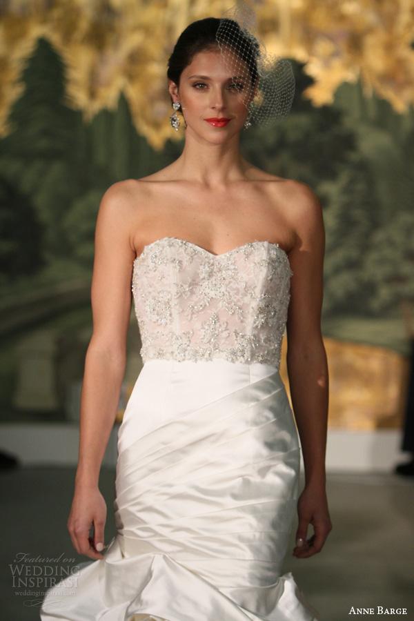 anne barcaça primavera de noiva 2014 dália strapless vestido de noiva sereia de perto