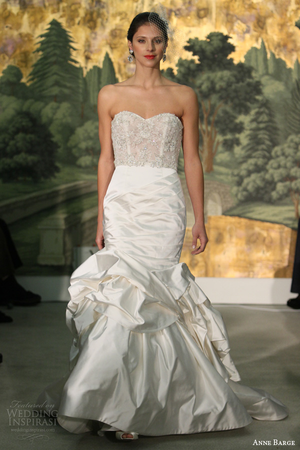 Anne barge spring 2014 wedding dresses wedding inspirasi for Wedding dresses with pearls and diamonds
