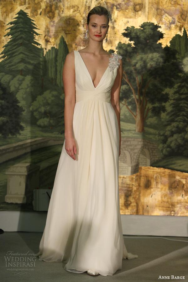anne barcaça la fleur primavera 2014 osmonde v vestido de noiva sem mangas pescoço
