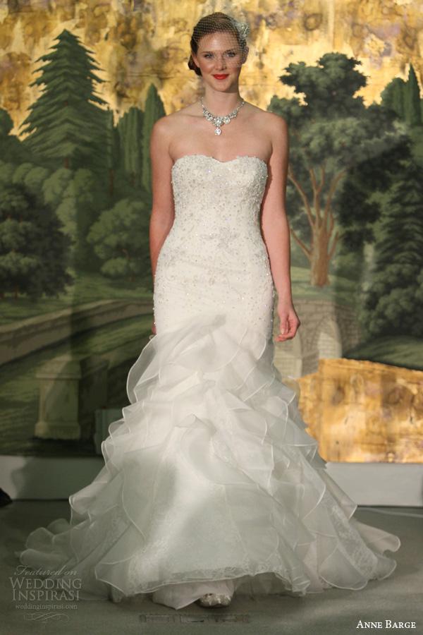 179e14230ae anne barge spring 2014 belle du jour strapless wedding dress ruffle skirt