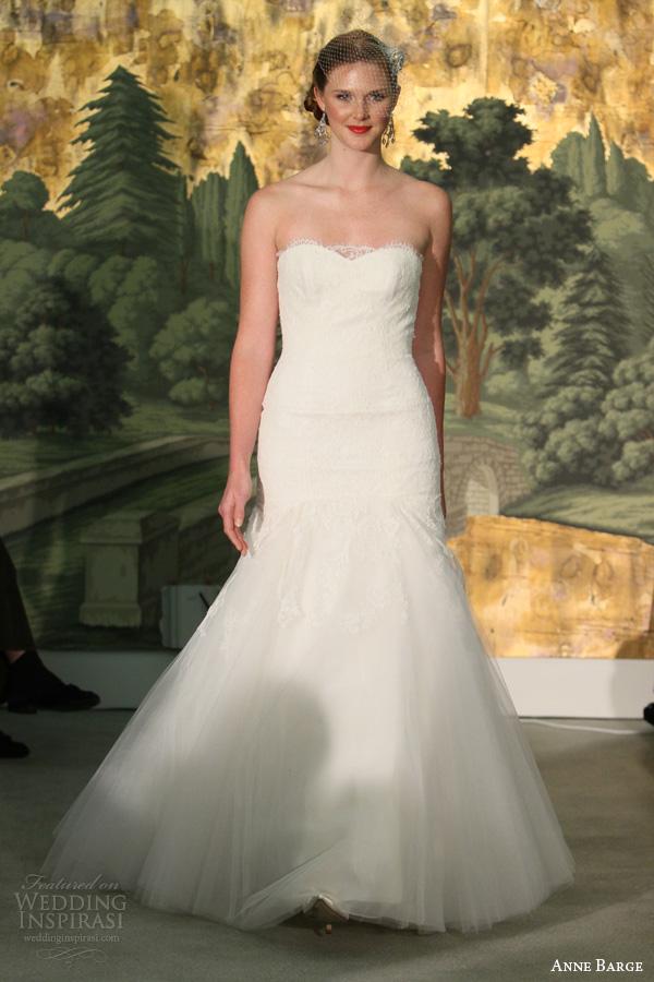 anne vestidos de noiva barcaça primavera 2014 vestido strapless Hyacinthe