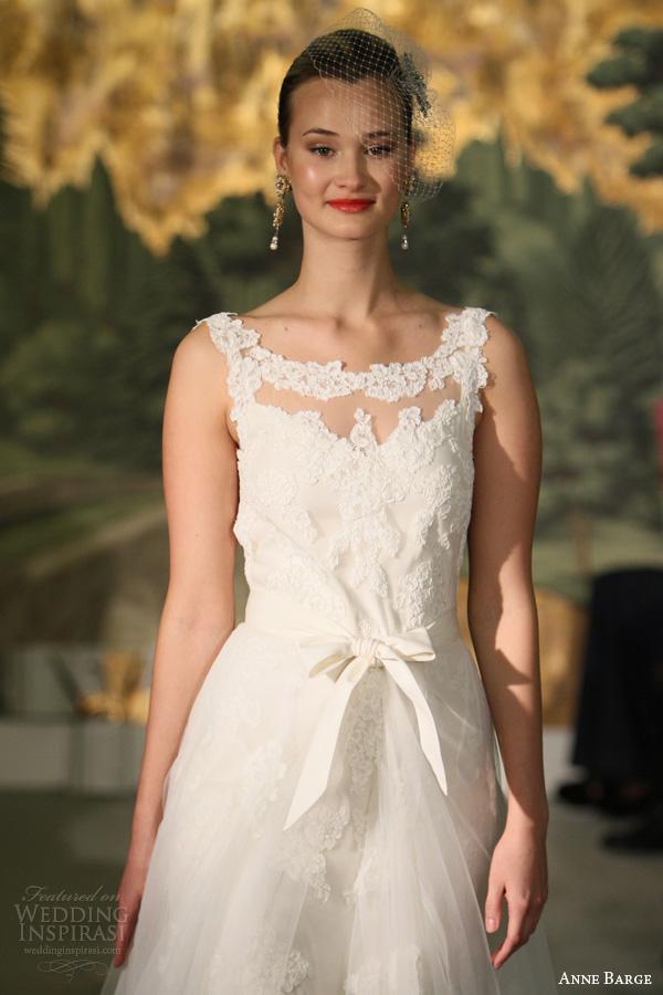 anne vestidos de noiva barcaça primavera 2014 Marguarite rendas vestido de decote