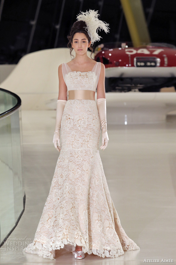 atelier aimee 2014 cloe pink lace wedding dress