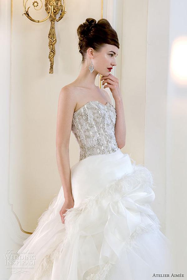 atelier aimee 2014 rihanna wedding dress strapless ball gown