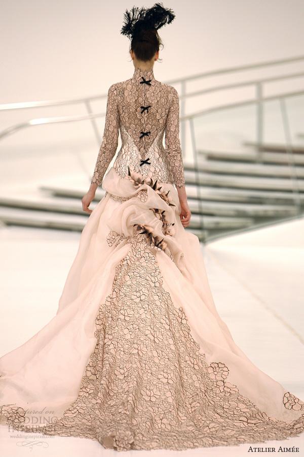 atelier aimee bridal 2014 ilena pink wedding dress black lace
