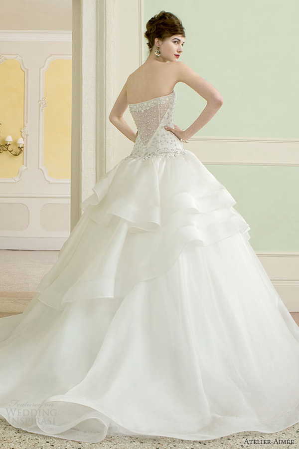 atelier aimee wedding dresses 2014 barbara strapless ball gown back illusion shoot