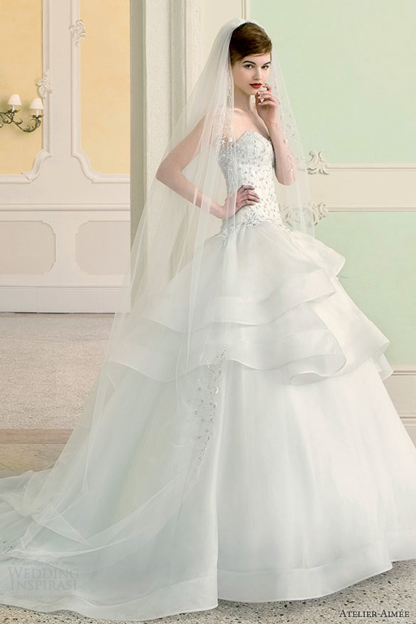 atelier aimee wedding dresses 2014 barbara strapless ball gown side shoot