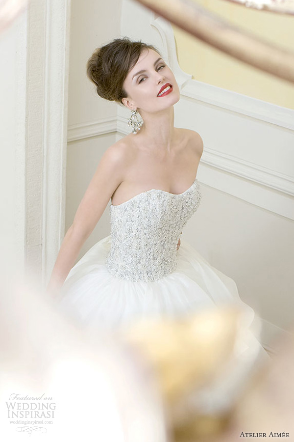 atelier aimee wedding dresses 2014 futura strapless ball gown