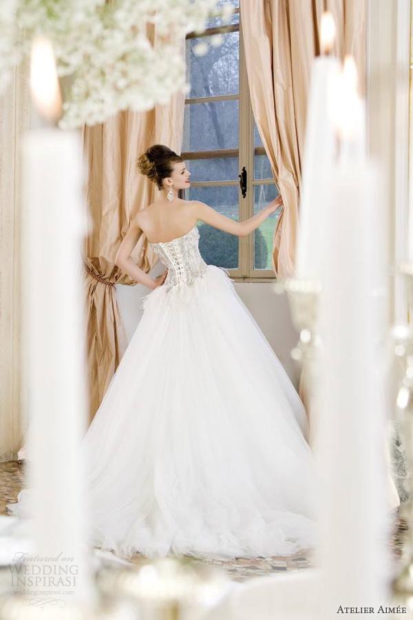 atelier aimee wedding dresses 2014 rania strapless ball gown