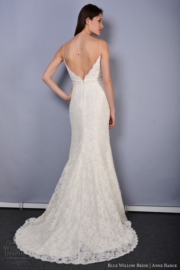 Blue Willow Bride Wedding Dresses Spring Sonata Mermaid Slip Dress Corded Lace Back Train