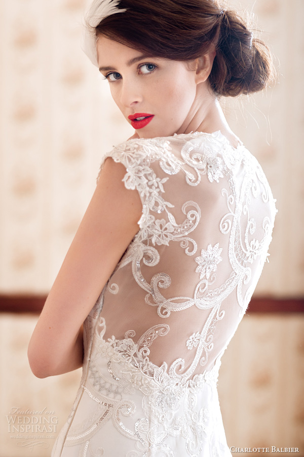 Charlotte balbier 2014 wedding dresses a decade of style for Wedding dress illusion back