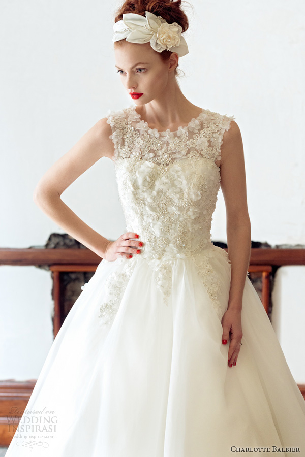charlotte balbier 2014 rose sleeveless wedding dress