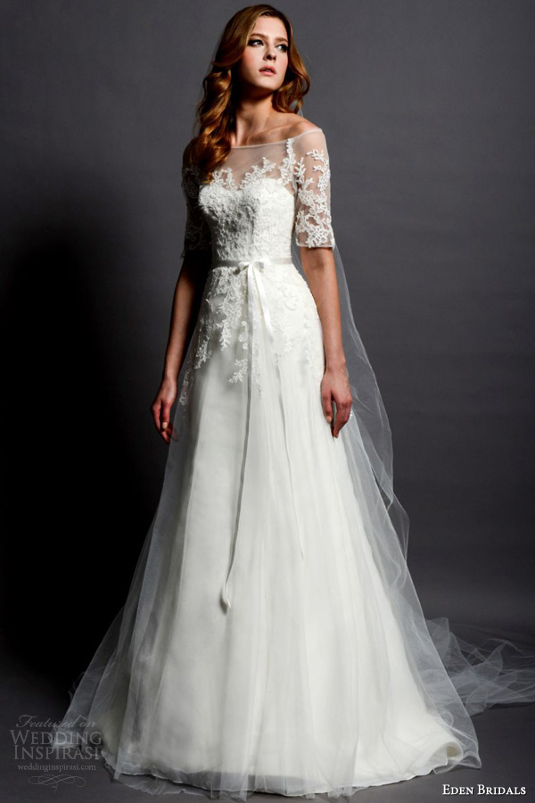 Eden bridals wedding dresses sponsor highlight wedding for Winter vintage wedding dresses
