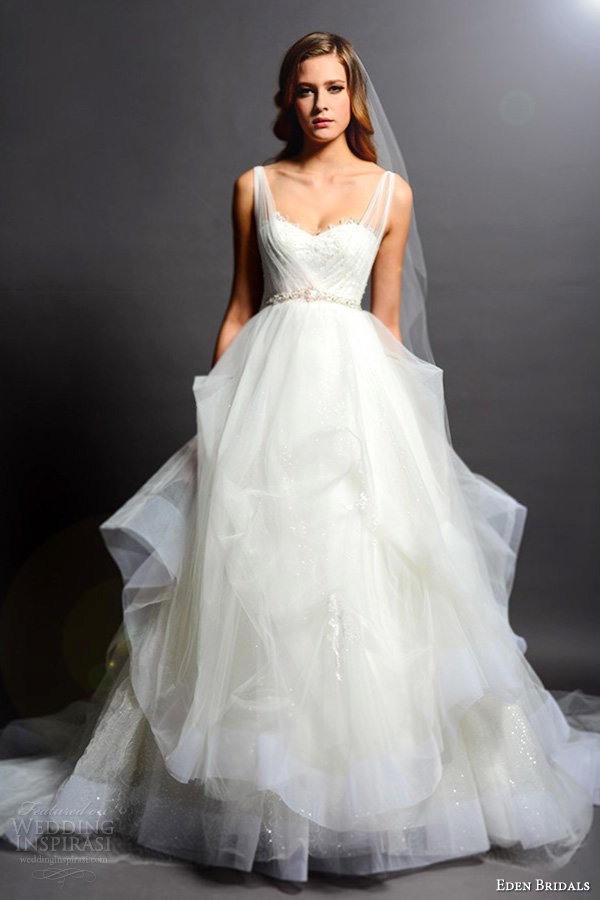 Organza And Tulle Wedding Dresses 5 Vintage eden bridals black label