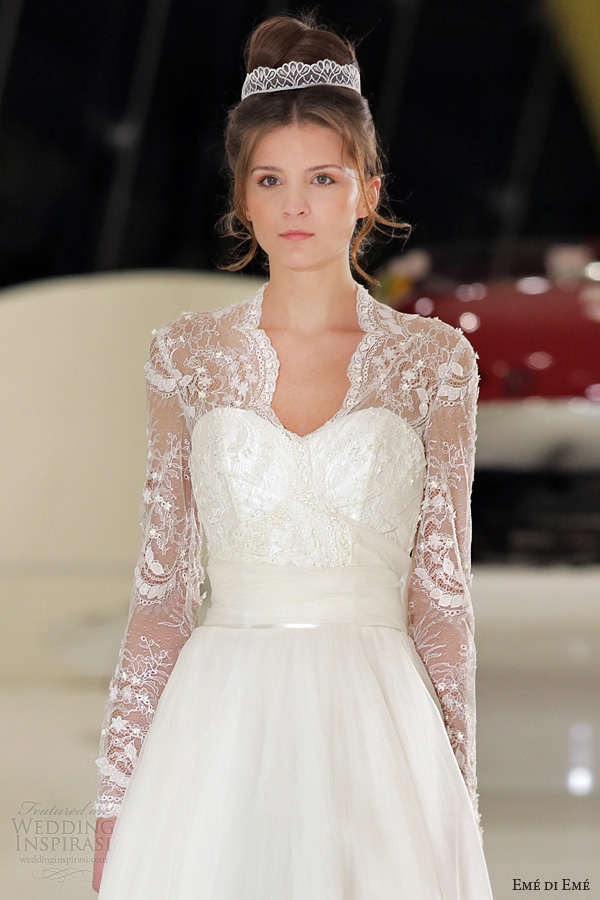 Long Sleeve Lace Wedding Dresses 2013