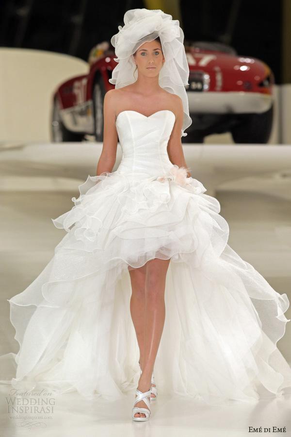 Eme Di Wedding Dresses 2017 Grecia Short Long Mullet Bridal Gown