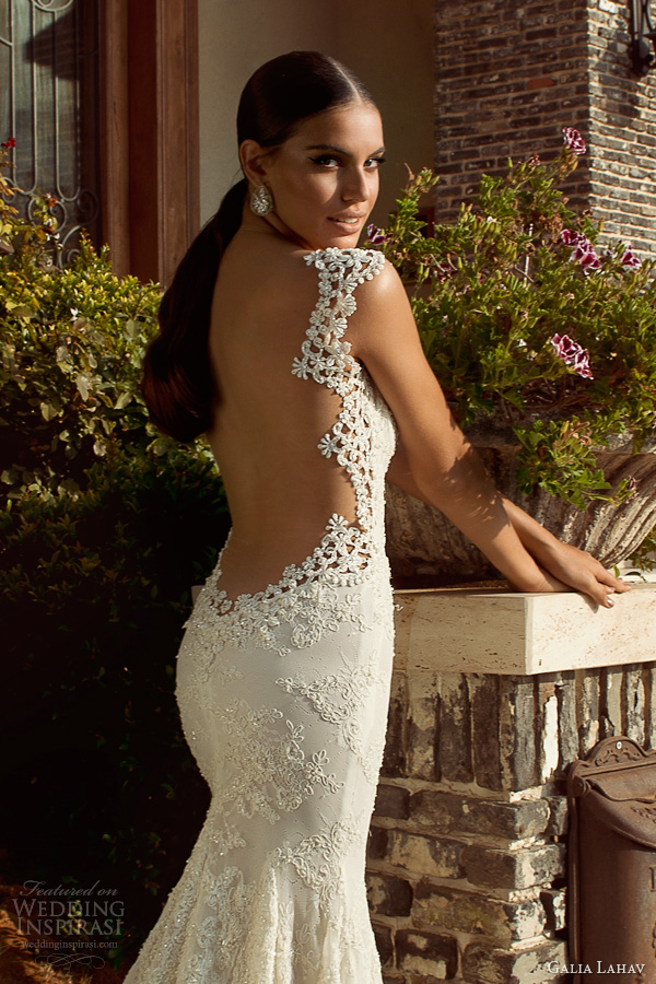 galia lahav 2014 bridal collection madonna wedding dress open back close up