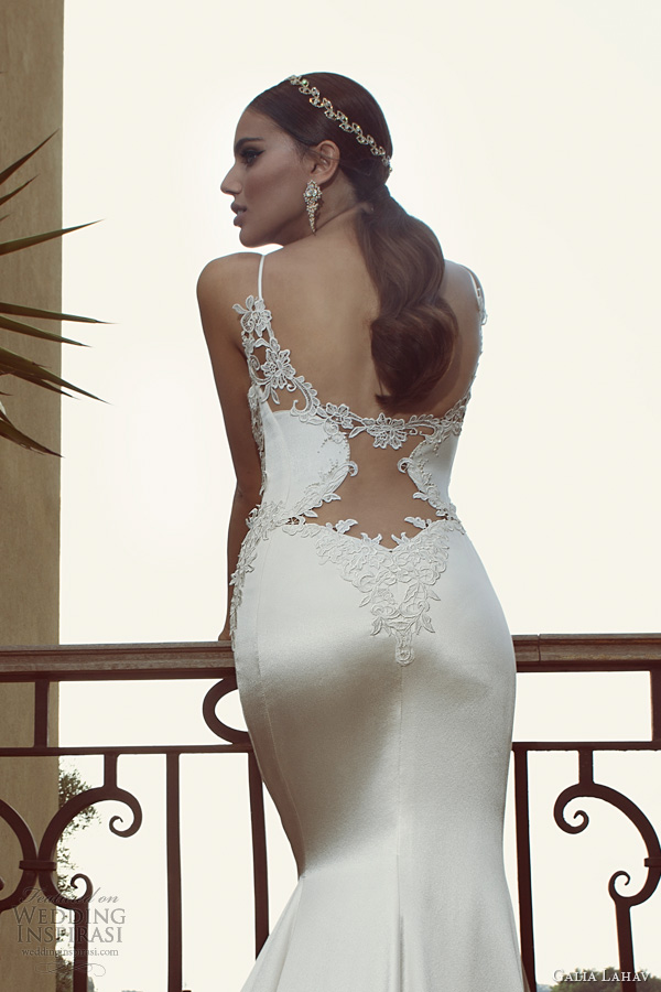 galia lahav 2014 bridal collection saffron wedding dress straps illusion back close up