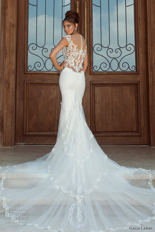 galia lahav 2014 fiona wedding dress dramatic train illusion back