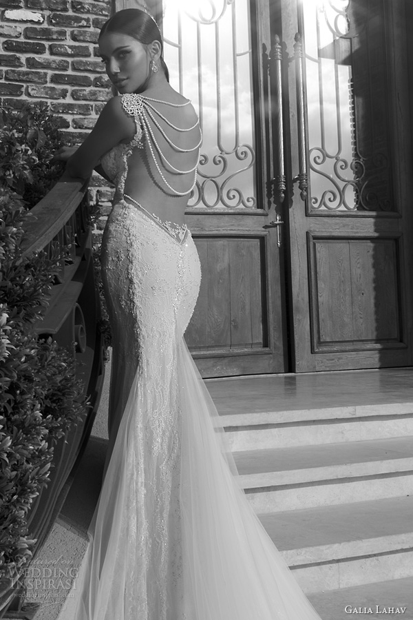 galia lahav wedding dresses 2014 jasmine gown pearl back close up