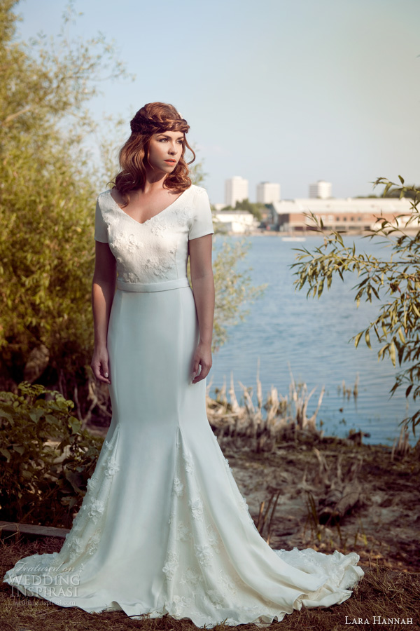 lara hannah 2014 magic circle bridal infinity wedding dress sleeves photo shoot