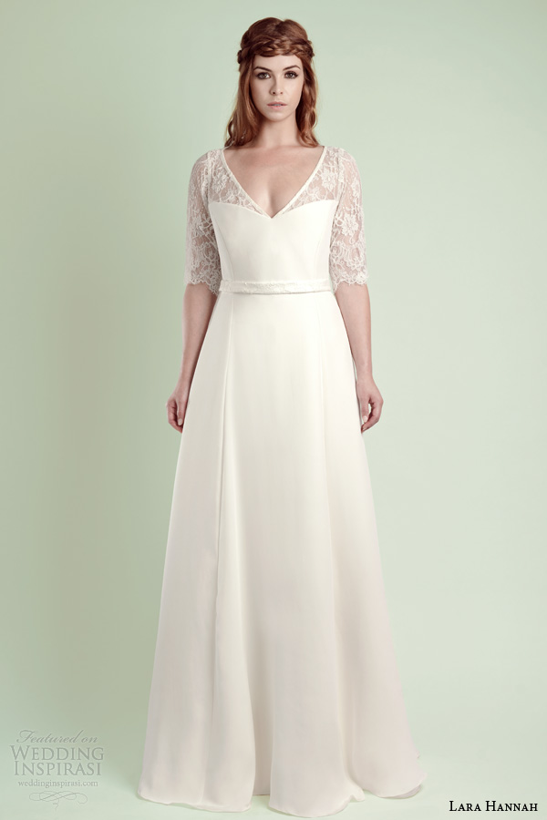 Silk Wedding Dresses With Lace This Lace And Silk Crepe Dress