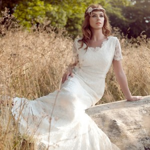 lara hannah 2014 magic wedding dress lace sleeves