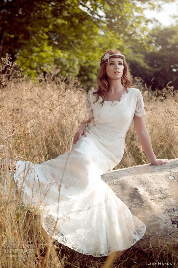 lara hannah 2014 magic wedding dress lace sleeves