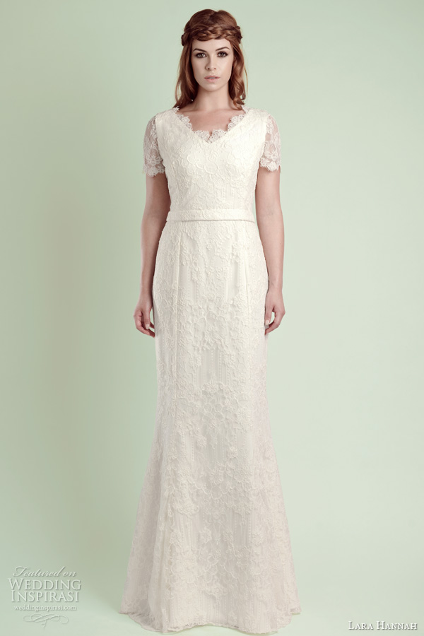 lara hannah bridal 2014 magic wedding dress lace sleeves