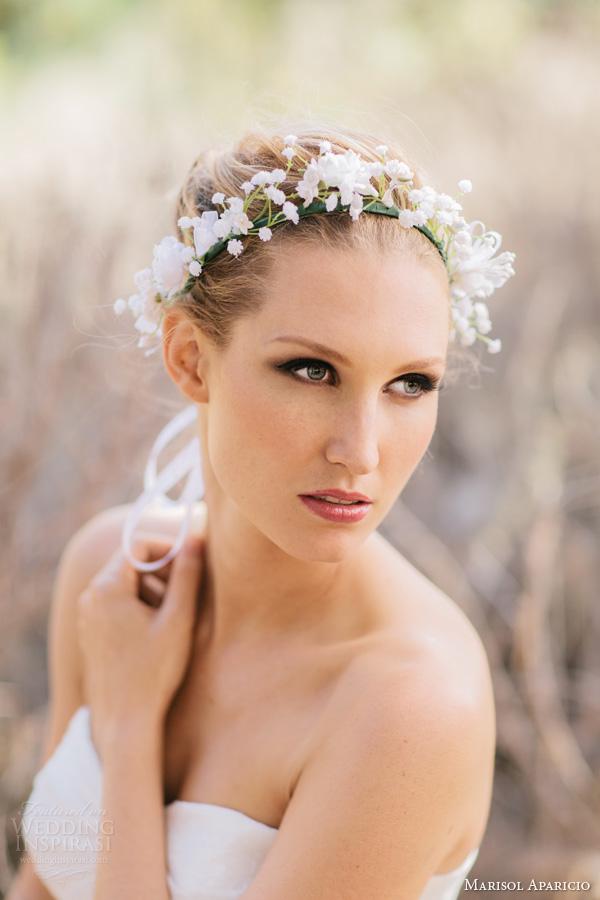 marisol aparicio bridal accessories fall 2013 floral halo