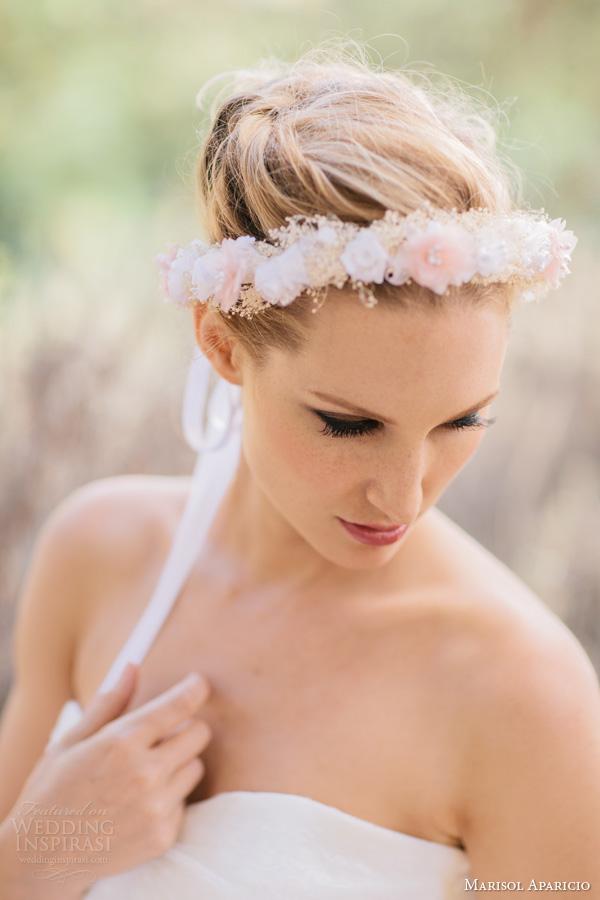 marisol aparicio bridal accessories fall 2013 halo pink flowers