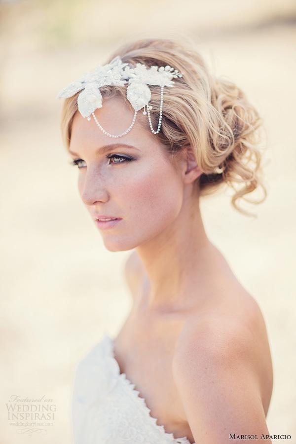marisol aparicio bridal accessories fall 2013 headpiece drape