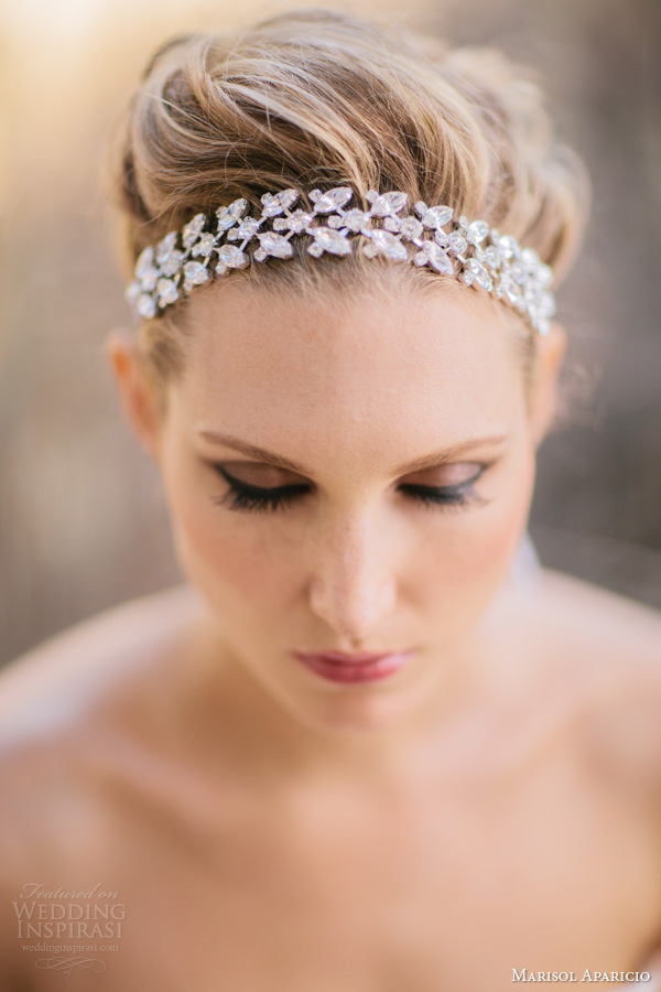 marisol aparicio bridal accessories fall 2013 rhinestone headband