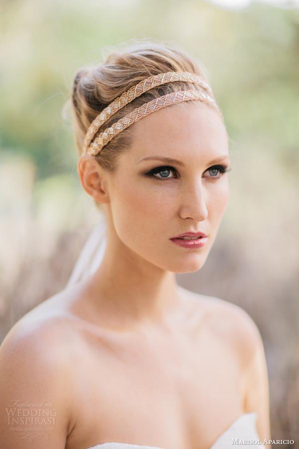 marisol aparicio bridal accessories fall 2013 rose gold double headband