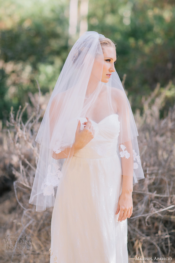 marisol aparicio bridal accessories fingertip veil
