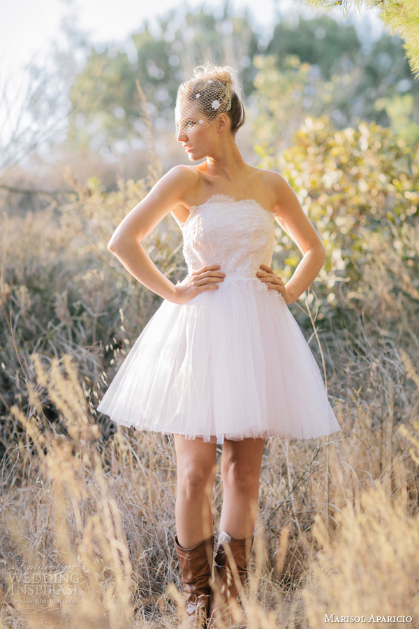 Marisol aparicio fall 2013 preview wedding inspirasi for Wedding dresses with cowboy boots