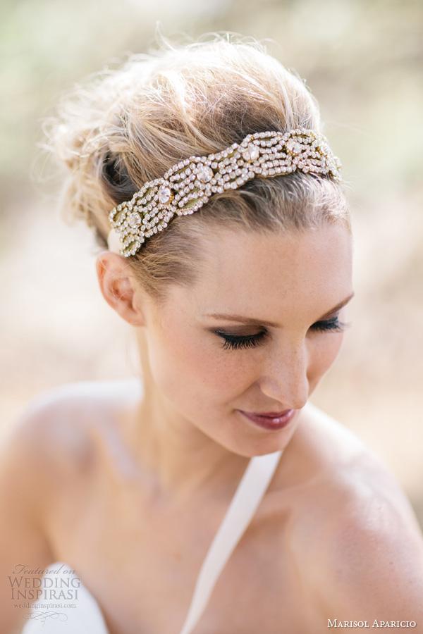 marisol aparicio fall 2013 gold headband sash