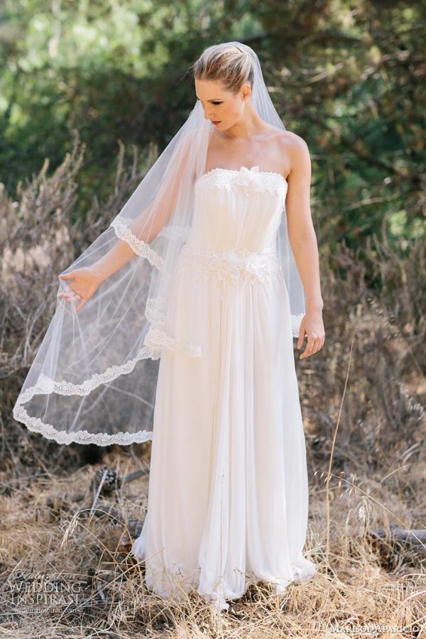 marisol aparicio veils fall 2013 karina veil in ivory english netting dress