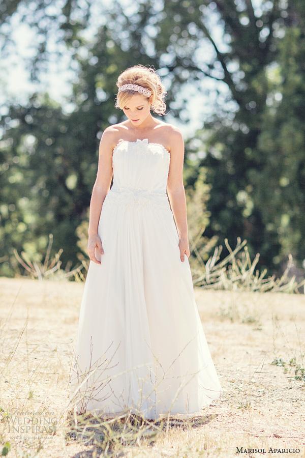 marisol aparicio wedding dresses fall 2013 english netting strapless gown