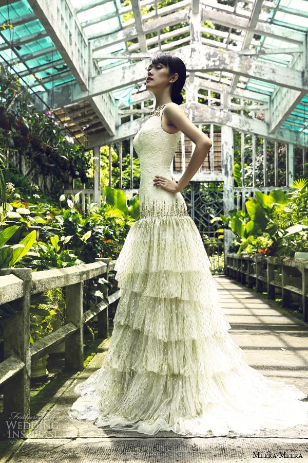 Vietnamese Wedding Dress 5 Amazing meera meera bridal sequin