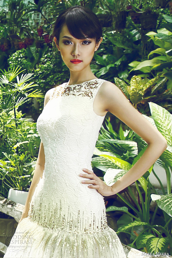 meera meera bridal 2013 sleeveless sequin wedding dresses