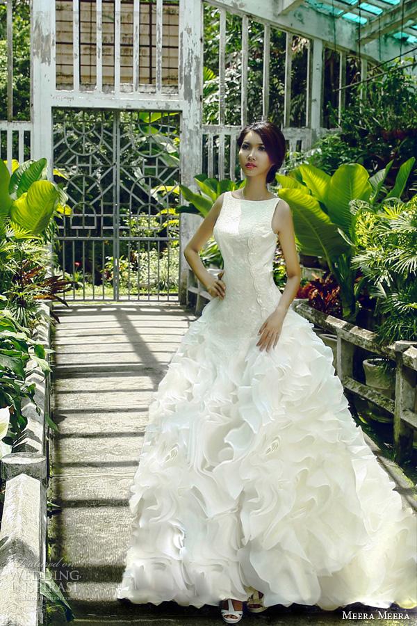 meera meera vietnam bridal 2013 sleeveless voile wedding dress ball gown