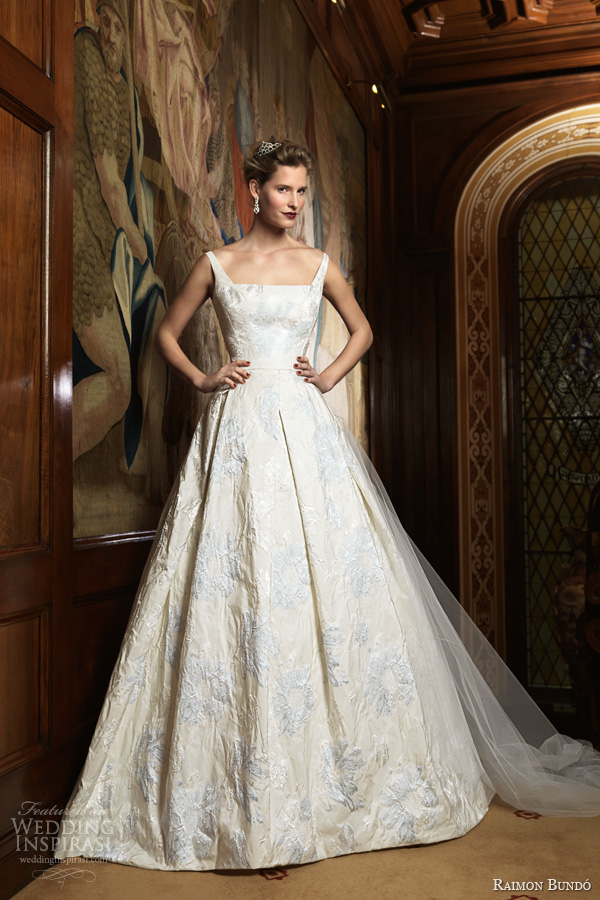 raimon bundo 2014 bridal ivo sleeveless ball gown pale blue embroidery