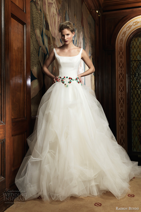 raimon bundo 2014 increible sleeveless ball gown straps