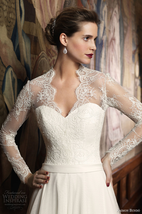 raimon bundo 2014 isolda long sleeve wedding dress