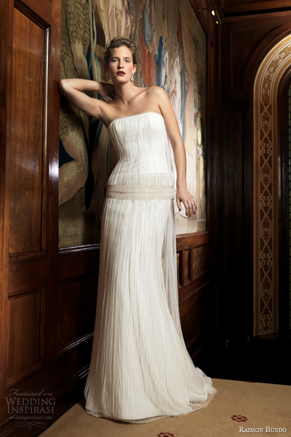 raimon bundo 2014 silencio inca strapless wedding dress
