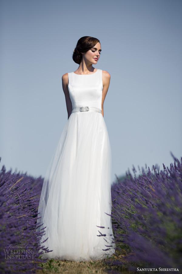 sanyukta shrestha 2014 bridal audrey sleeveless eco ethical wedding dress