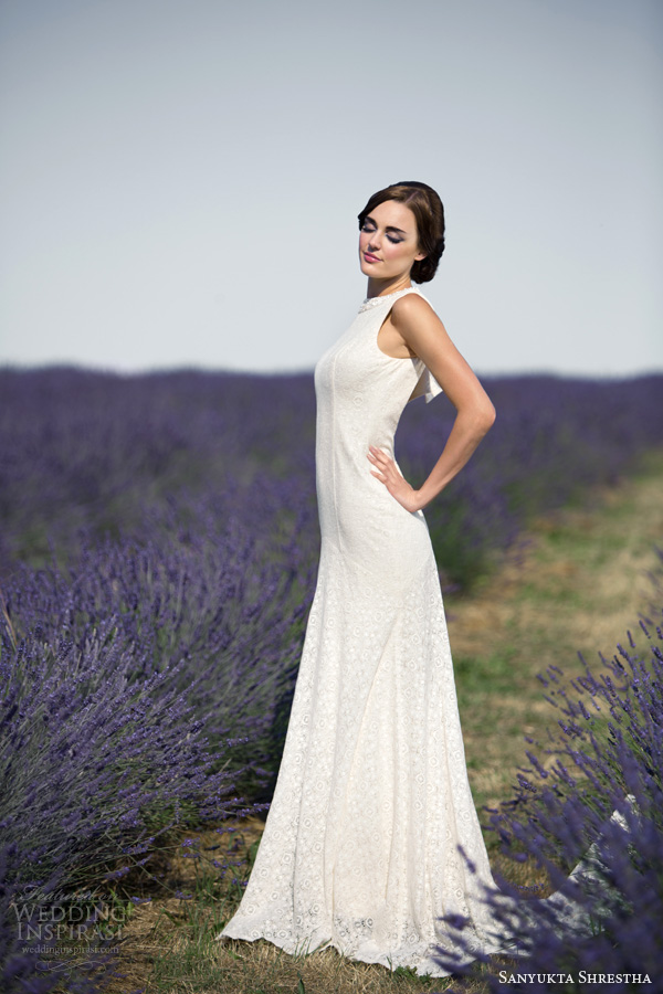 sanyukta shrestha 2014 bridal hepburn sleeveless eco wedding dress
